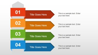 4 Steps Text Layout for PowerPoint