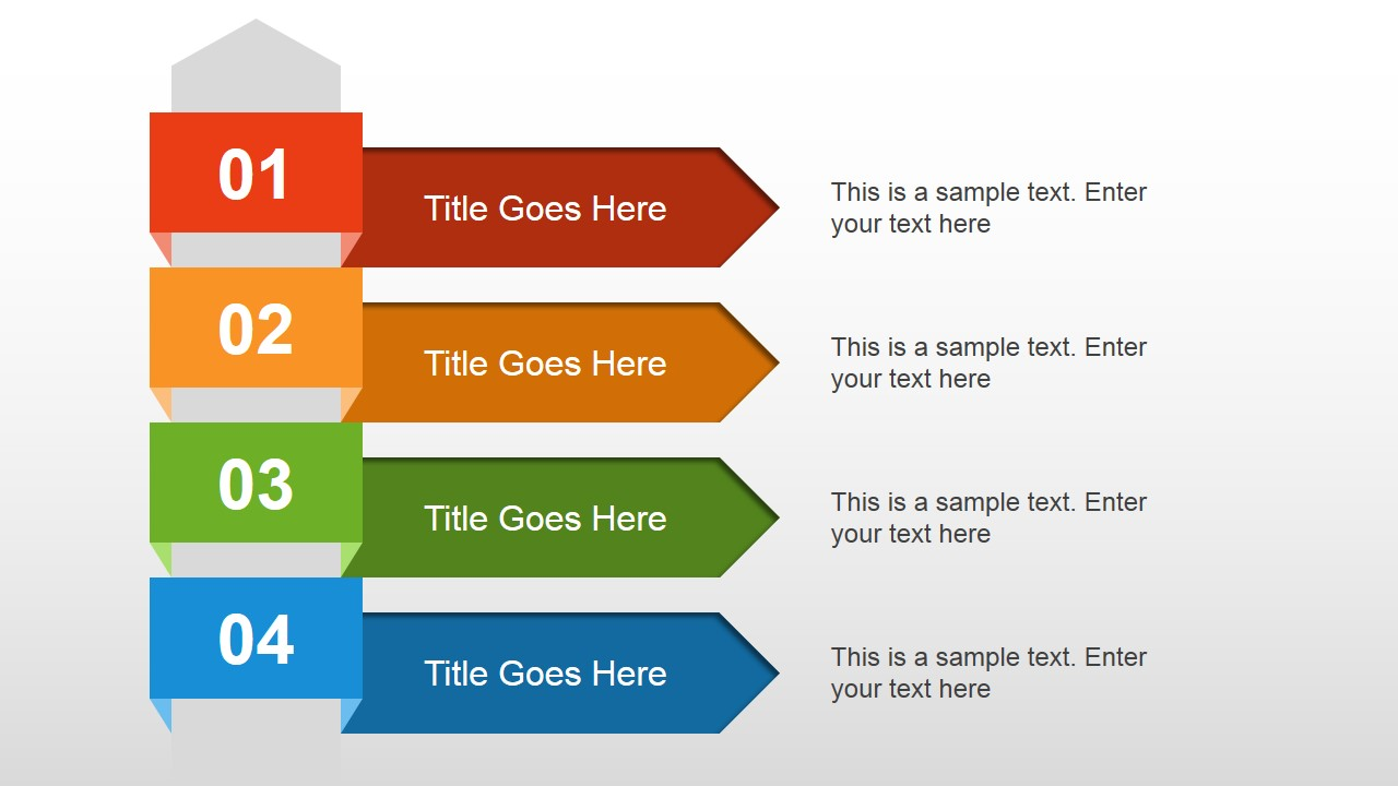 4 steps text layout for powerpoint - slidemodel, Modern powerpoint