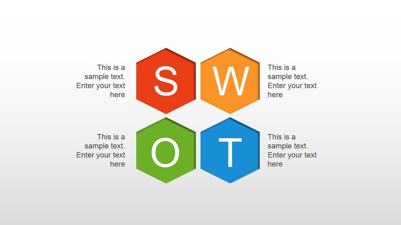 Simple Colorful SWOT Diagram for PowerPoint