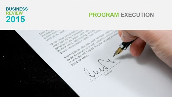 Program Execution Section Cover