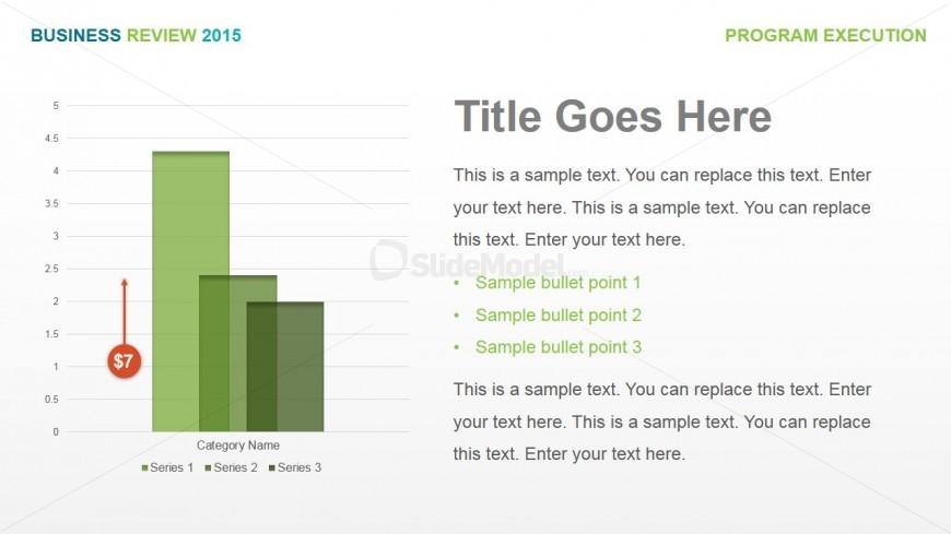 PowerPoint Data Driven Column Chart with Description