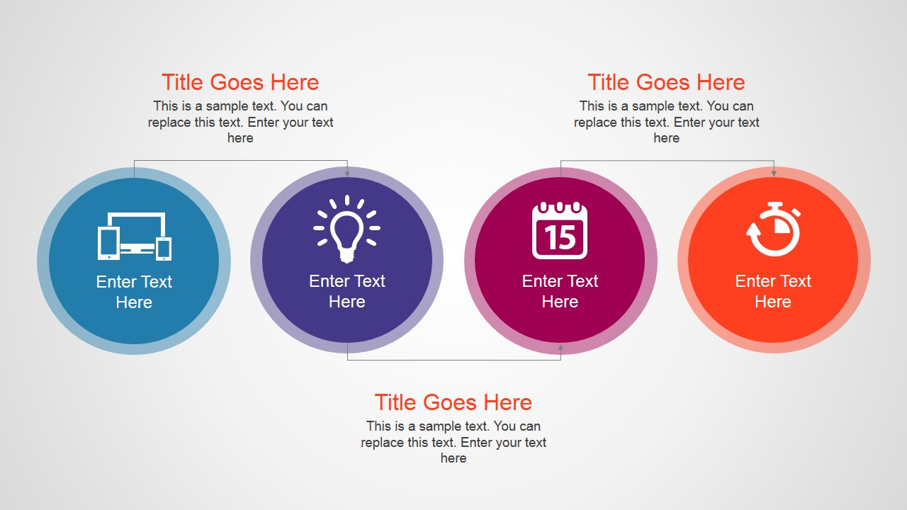Simple Process Flow with 4 Steps for PowerPoint