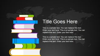 Flat Illustration Books PowerPoint Slide