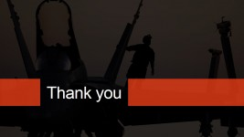 Military Theme Thank You Page for PowerPoint