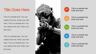 PowerPoint Slide Soldier with Rifle Background