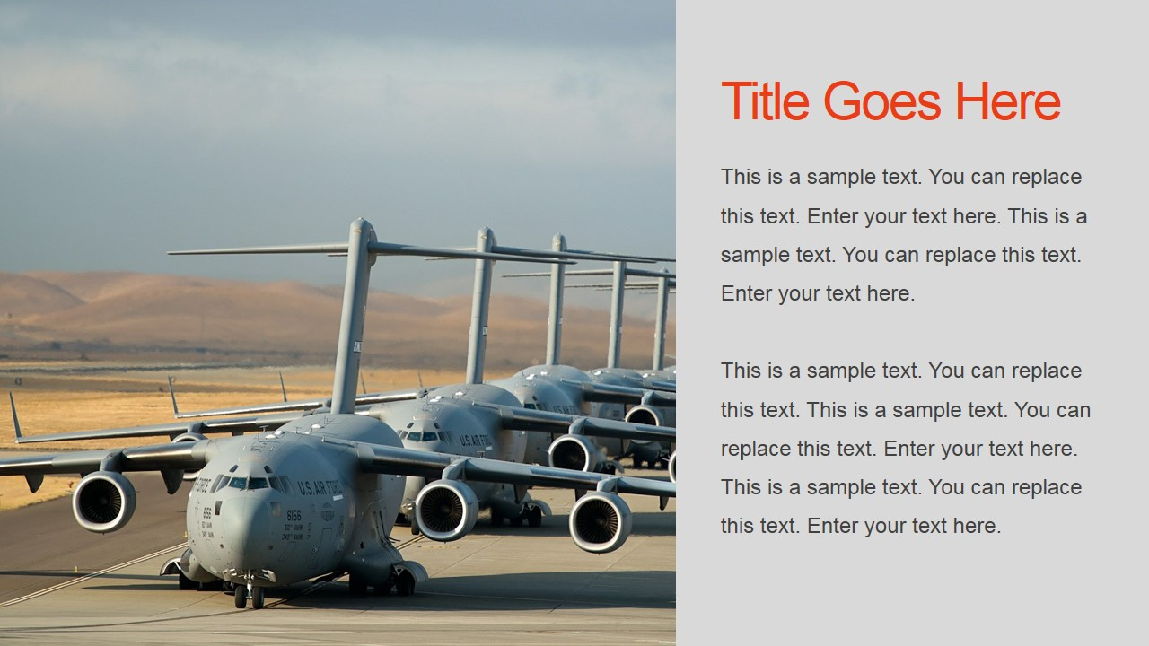Military Airport Background for PowerPoint