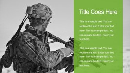 Military Two Tiles Slide with Soldier Background