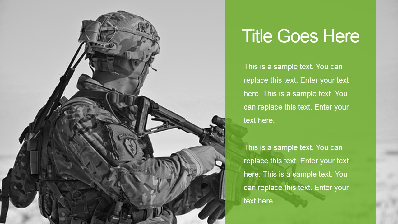 military powerpoint template - slidemodel, Modern powerpoint