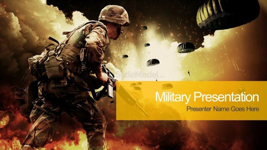 Battlefield PowerPoint Template Design
