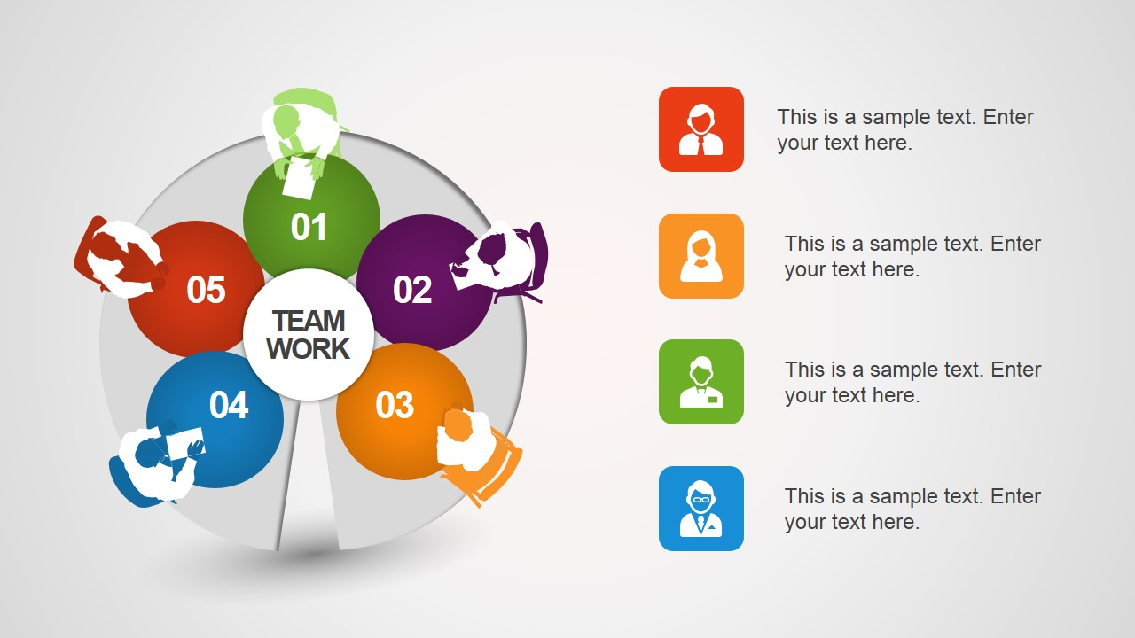 Team Work Illustration Diagram for PowerPoint
