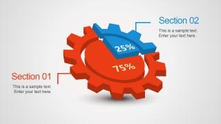 3D Gear Pie Chart Design