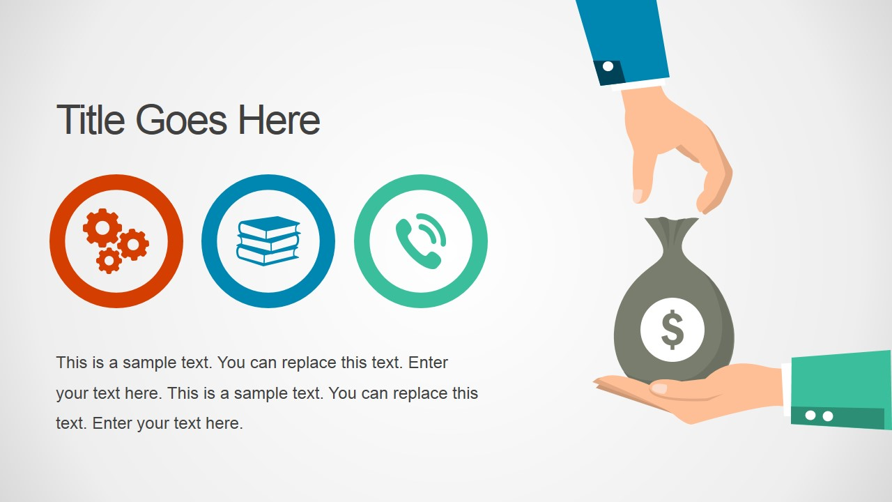 Flat Getting Paid Graphic Illustration