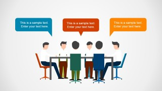 Team Working Illustration for PowerPoint