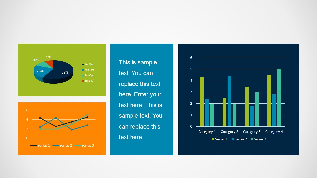 Simple Dashboard Slide Design for PowerPoint