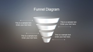 Blur Funnel Diagram for PowerPoint