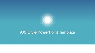 iOS Style PowerPoint Background Template
