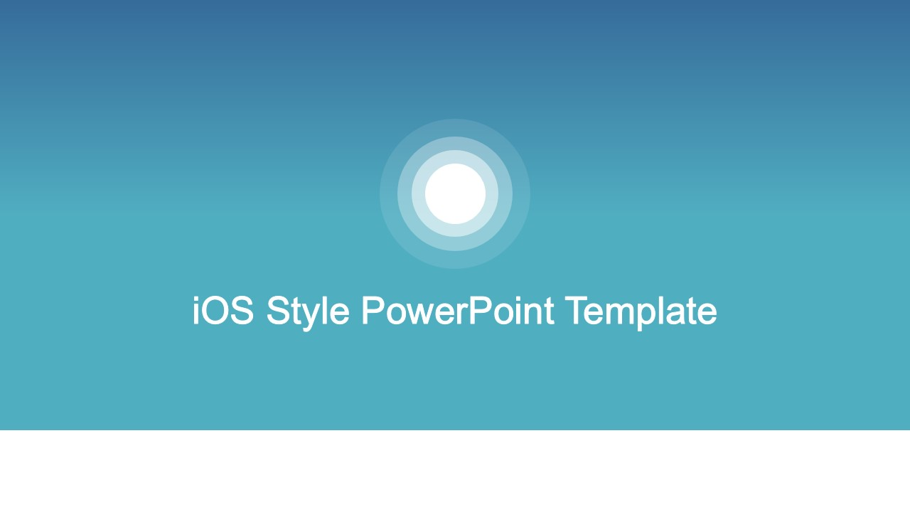 ppt template based on ios style