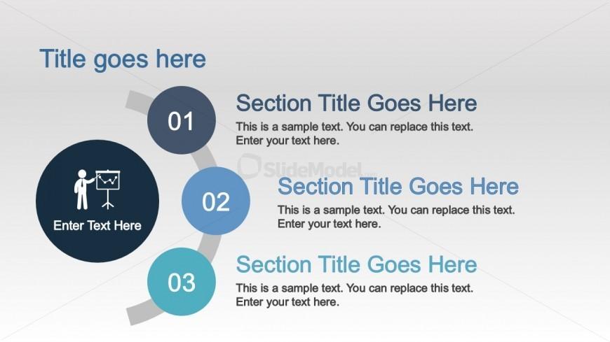 PPT Template 3 Steps Design