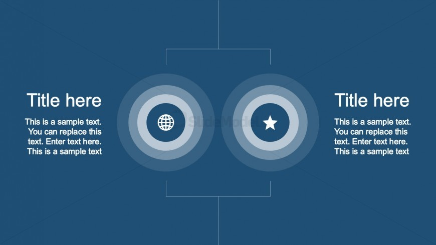PPT Template Animated Timeline With Two Editable Icons