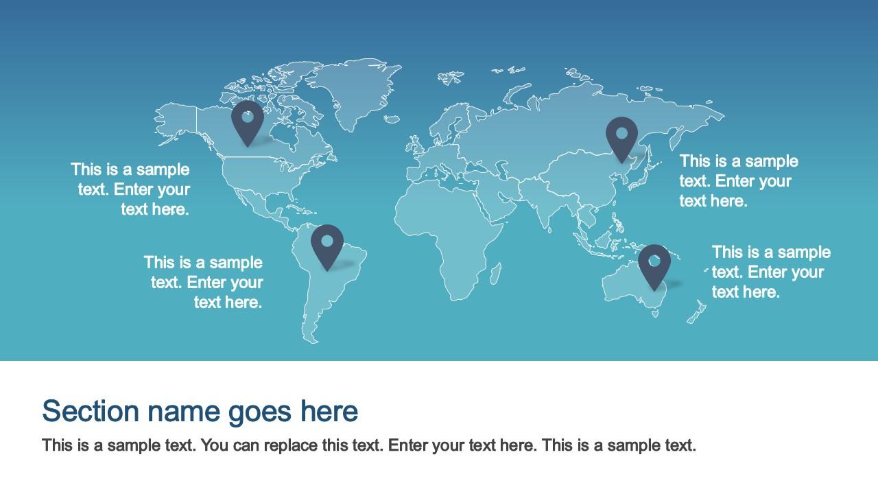 iOS Style Worldmap Gradient Background