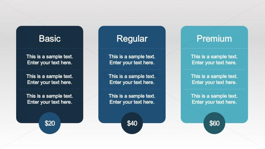 iOS PPT Template Plans Comparison