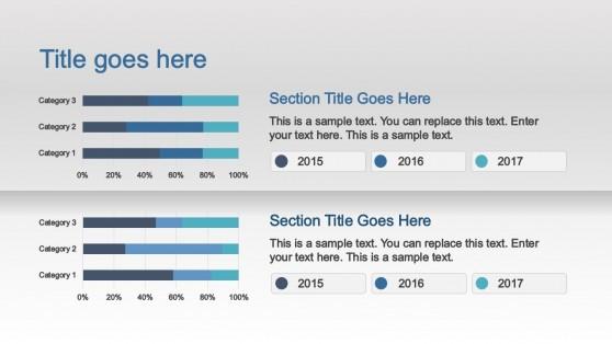 Bar Chart Comparion Slide Design