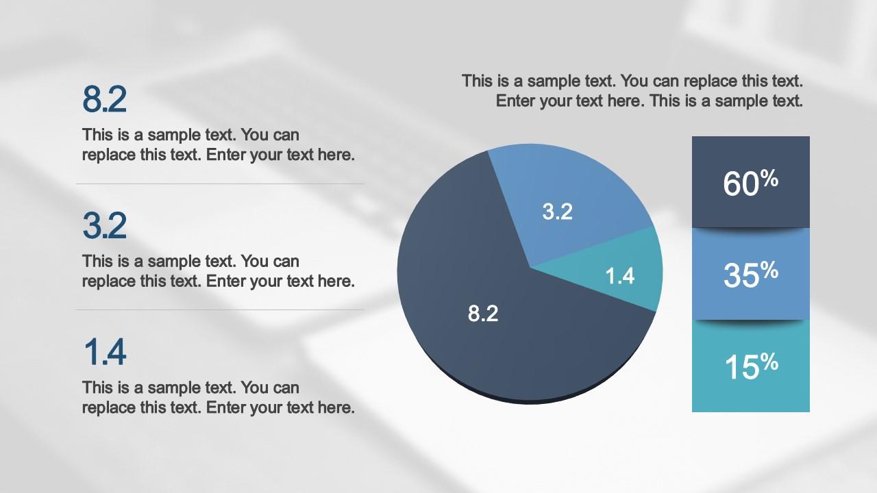 PPT Template Flat Pie Chart