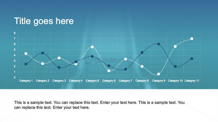 PowerPoint Line Chart Slide Design