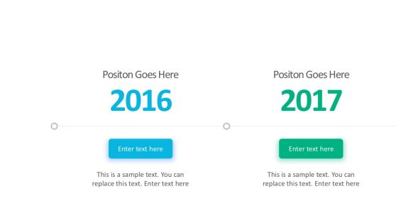 Simple Gradient Timeline Layout PowerPoint
