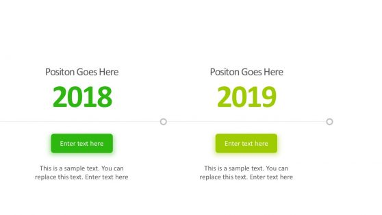 Green Duotone Timeline PowerPoint Template