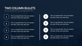 Two Column Bullets For Business Plan PowerPoint