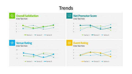 Business Trends Line Graphs For PowerPoint