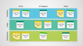 Editable Kanban Board PowerPoint Templates
