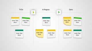 Cool Kanban Board With Editable PowerPoint Notes