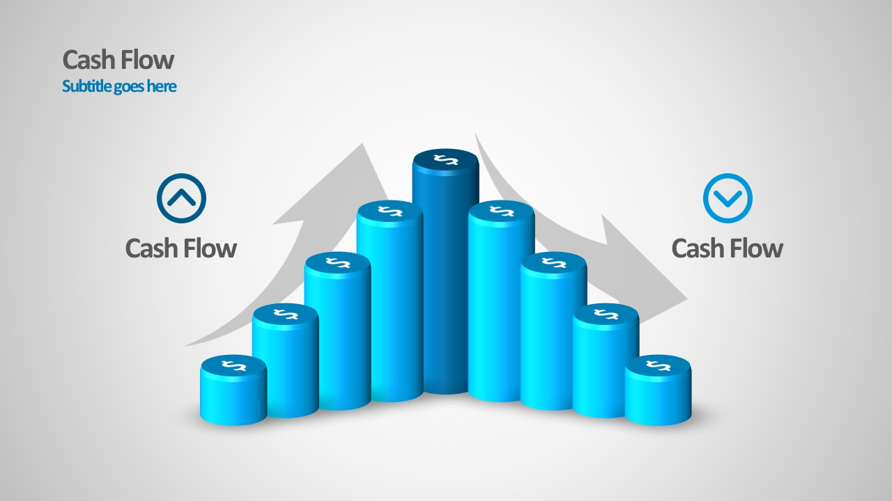 Cash Flow Diagrams With PowerPoint Arrows And Shapes