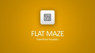 Flat Maze PowerPoint Diagrams