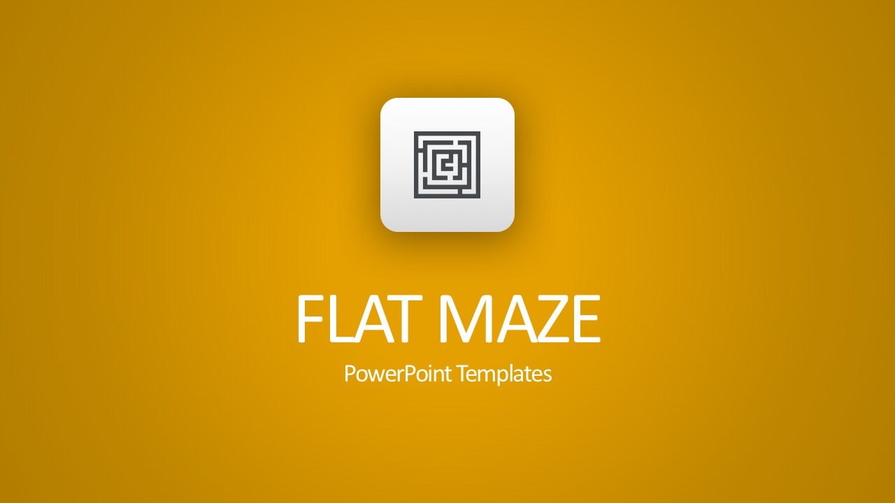Maze PowerPoint Template Slides