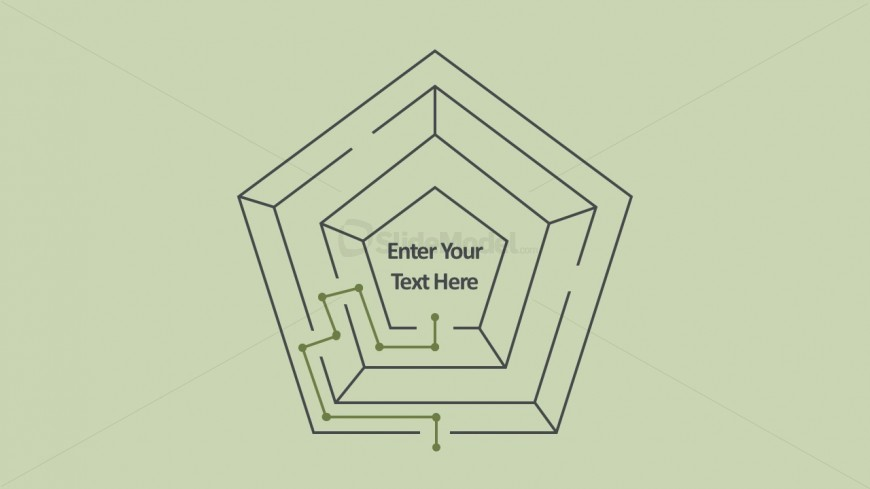 PowerPoint Flat Maze Diagrams Vectors
