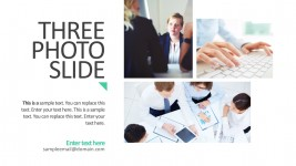 Three Photo Slide PowerPoint Temlate