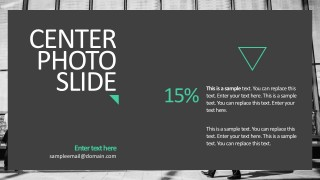 Business Photo Slide With Caption Templates