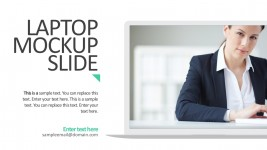Laptop Mockup Slide For Business PowerPoint