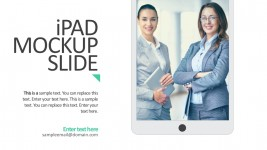 iPad Mockup Slide Vectors For PowerPoint