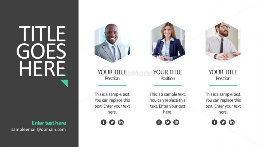 Business Team Profile Template Slides - Slidemodel
