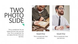 Editable Photo Slider Template For PowerPoint