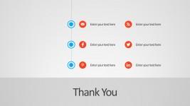 Editable Social Media Buttons For PowerPoint