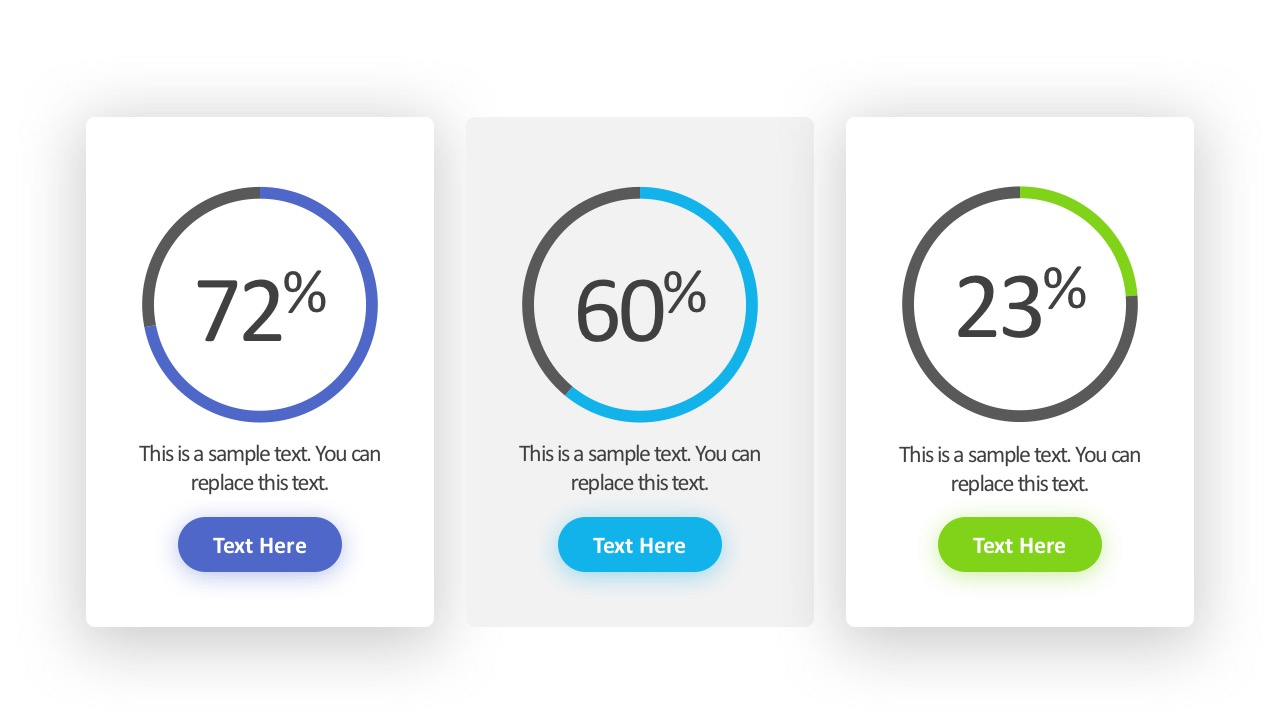 Percentage Slide Template PowerPoint