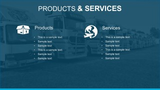 List Of Product And Services PowerPoint Template