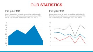 Editable Line Graph For PowerPoint Report Presentation