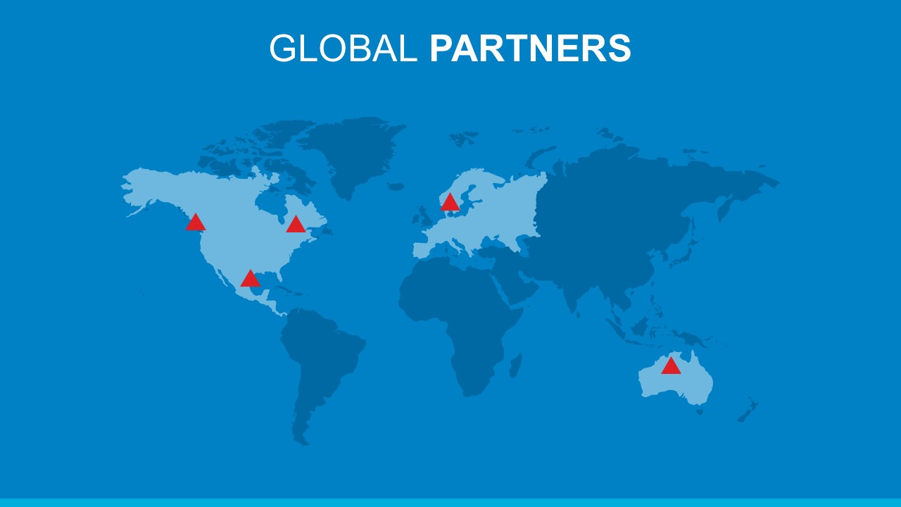 Editable Globalization Partnership Report With PowerPoint Map