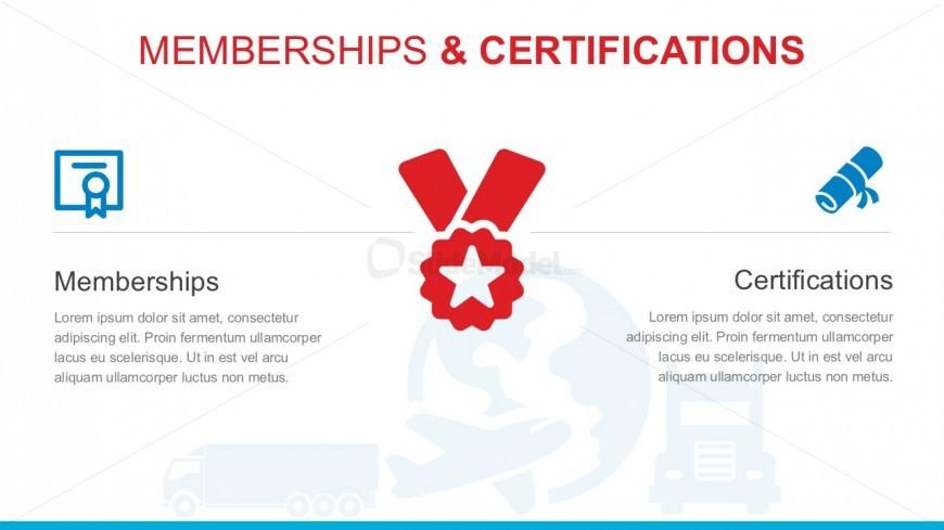 Editable Certifications PowerPoint Vectors